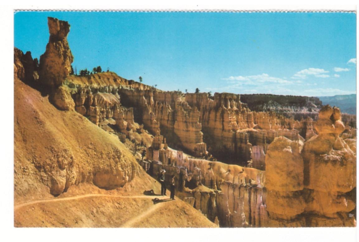 Switchbacks Navajo Loop Trail Bryce Canyon National Park Ut Vintage Postcard Ebay